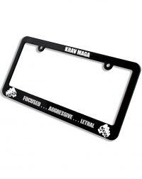 license plate frame focused aggressive lethal