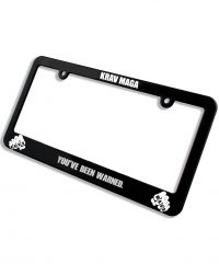 license plate frame you've been warned