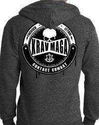 Krav Maga Dark Heather Gray Hoodie