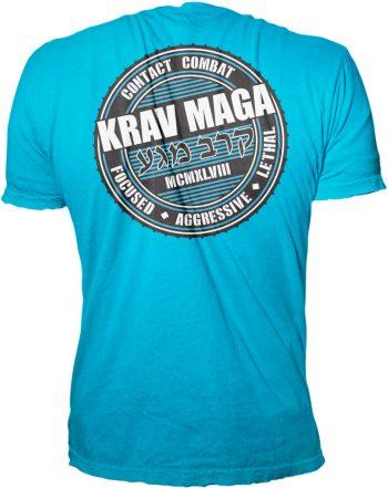 Krav Maga Turquoise Contact Combat Shirt